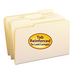 Smead Manila File Folders, Double Ply Top, 1/3 Cut/Assorted, Legal, 100/Box