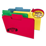Smead SuperTab Heavyweight folder, 1/3 Cut, Legal, Assorted