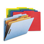 Smead Six Section Pressboard Classification Folders, Legal, Assorted Colors, 10/Box