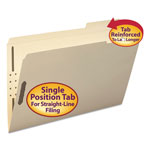 "Smead Manila Folders with Two 2"" Capacity Fasteners, Legal, 1/3 3rd Cut, 50/Box"