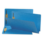 "Smead End Tab Folders, 3/4"" Expansion, 2 Fasteners, Legal, Blue, 50/Box"