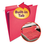 Smead Hanging Folders w/2-Ply Tabs Attached, 1/3 Tab, Letter, Red