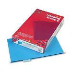 Smead Hanging Folders, Recycled, Legal, Sky Blue, Color Matched 1/5 Cub Tabs, 25/Box