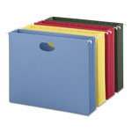 "Smead Expandable Hanging File Pockets, Letter, 3 1/2"" Capacity, 4 Asst. Colors, 4/Pack"