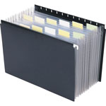 "Smead Hanging Portable Expanding File, 11 7/8""x9 1/4"", Black"