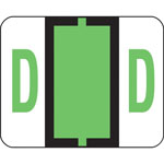 Smead A Z Color Coded Bar Style End Tab Filing Labels, Light Green, Letter D, 500/Roll