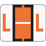 Smead A Z Color Coded Bar Style End Tab Filing Labels, Dark Orange, Letter L, 500/Roll