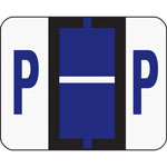 Smead A Z Color Coded Bar Style End Tab Filing Labels, Violet, Letter P, 500/Roll