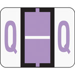 Smead A Z Color Coded Bar Style End Tab Filing Labels, Lavender, Letter Q, 500/Roll