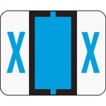 Smead A Z Color Coded Bar Style End Tab Filing Labels, Blue, Letter X, 500/Roll