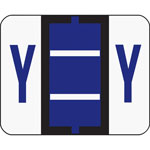 Smead A Z Color Coded Bar Style End Tab Filing Labels, Violet, Letter Y, 500/Roll