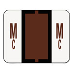 Smead A Z Color Coded Bar Style End Tab Filing Labels, Brown, Letter Mc, 500/Roll