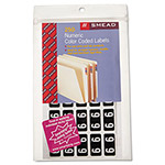 Smead ETNS Color-Coded Labels, Number 9, 1/2 x 1, Black, 250 Labels/Pack