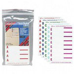 Smead Alphabetical Labels for Top Tab Filing, 13 Assorted Colors, 568/Pack