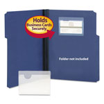 Smead Self Stick Vinyl Pockets for Business Cards, 2 9/16 x 3 11/16, 100/Box