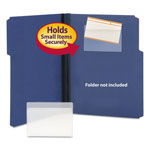 Smead Self Stick Vinyl Pockets for 3 x 5 Cards, 5 3/8 x 3 5/8, 100/Box