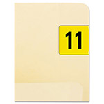 Smead Jeter-Compatible Year 2011 Labels, 3/4 x 1-1/2, Dark Yellow/White, 500/Roll