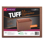 Smead Leather Like Expanding File with Flap and Elastic Cord, A Z Index, 12 x 10