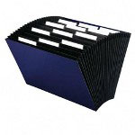 "Smead Expanding File, Top Tab, Legal Size, 15""x10"", 12 Packt, Navy"