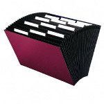 "Smead Expanding File, Top Tab, Legal Size, 15""x10"", 12 Packt, Maroon"