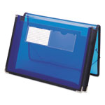 Smead Document Wallet with Elastic Ties, Letter Size, Blue