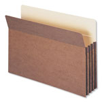 "Smead Redrope File Pockets, Paper Gusset, Legal, Straight Cut, 3 1/2"" Exp., 25/BX"