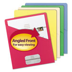 Smead Slash File Recycled Folders, Letter Size, Assorted Colors, 25/Pack