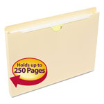 "Smead Manila Recycled File Jackets, Single Ply Tab, 1"" Expansion, Letter, 50/Box"