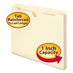 "Smead Heavyweight Manila File Jackets, Double Ply Tab, 1"" Expansion, Letter, 50/Box"