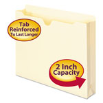 "Smead Heavyweight Manila File Jackets, Double Ply Tab, 2"" Expansion, Letter, 50/Box"
