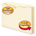 "Smead Heavyweight Manila File Jackets, Double Ply Tab, 1 1/2"" Expansion, Legal, 50/Box"