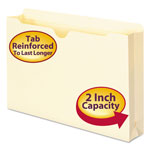 "Smead Heavyweight Manila File Jackets, Double Ply Tab, 2"" Expansion, Legal, 50/Box"