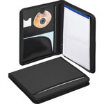 Smead Nylon covered zippered Pad folio, letter size pad, Black