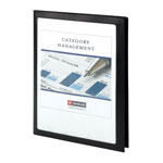 Smead Frame View Poly Two-Pocket Folder, 11 x 8 1/2, Clear/Black, 5/Pack
