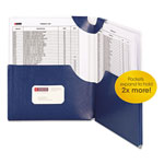 Smead Big Pocket Lockit Folders, 8 1/2 x 11, Monaco Blue, 5 per Pack