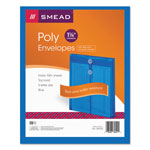 Smead Expandable Poly String Tie Envelopes, Top Load, Blue