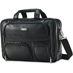 "Samsonite 2-Compartment Expandable Brief, 6-1/2"" x 12"" x 12"", Black"