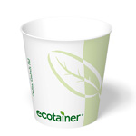 ecotainer Paper Squat Hot Cup, 10z.