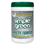 Simple Green Citrus Scented Safety Towels, 10 x 11 3/4, 75/Canister