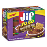 Smucker's Jif To Go, Creamy Chocolate Silk, 1.5 oz Cup, 8/Box