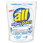 Sun Products Mighty Pacs Free and Clear Super Concentrated Laundry Detergent, 50 oz Pack