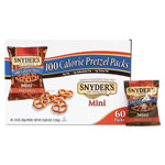 Snyder Manufacturing Mini Pretzels, Original, 0.9 oz Bags, 60/Carton