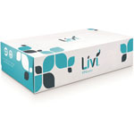Livi Facial Tissue, 2-Ply, 100 Sheets, 30BX/CT, White