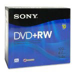 Sony DVD+RW, 437GB, 4x Recording Speed, Branded Surface