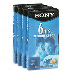 Sony Premium Grade VHS Video Tapes, Repeated Record/Erase, 6 Hours