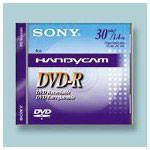 Sony Recordable Mini DVD RW, 8CM Disc, 30 Minute/1.4GB Capacity