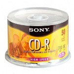 Sony CD R Recordable Disc, 48X, 700MB/80 Minute, Gold