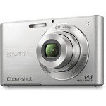 "Sony Digital Camera, 3"" LCD, 14.1 MP, 4x Optical Zoom, Silver"