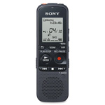 Sony Digital Voice Recorder,4GB, w/Dragon Nat. Speaking Sftwr,BK
