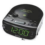 Sony Am/Fm/CD Dual Alarm Stereo Clock Radio, Line Input For Mp3 Players